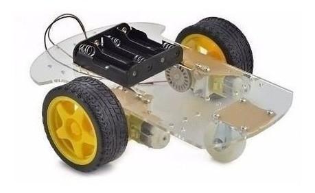 Kit Robótica Robô Segue Linhas Chassi 2 Rodas