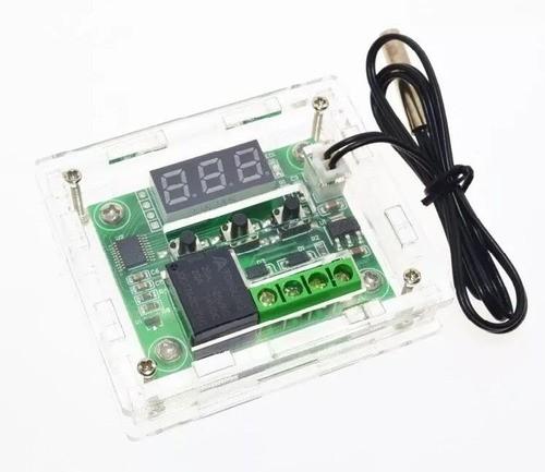 Kit Termostato Digital W1209 + Case Acrílico - Full