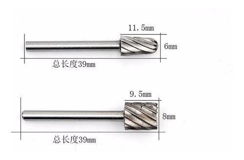 Lima Fresa Rotativa Retifica Dremel 1/8 3mm Kit 6pçs - Full