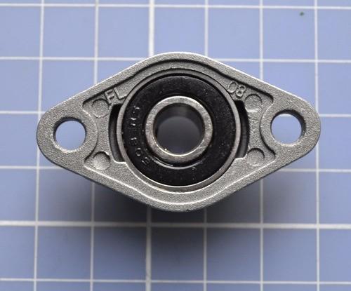 Mancal Kfl000 Para Eixo 10mm Com Rolamento Automação Cnc 3d