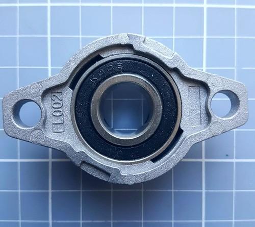 Mancal Kfl002 Para Eixo 15mm Com Rolamento - Automação Cnc