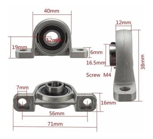 Mancal Kp000 Para Eixo 10mm Com Rolamento Automação Cnc 3d