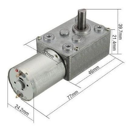 Micro Motor Redutor 12v Dc 30rpm Caixa De Redução Bloqueio