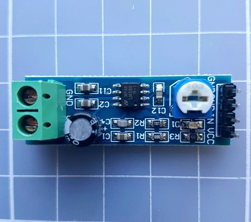 Módulo Amplificador De Áudio Lm386 5v A 12v Ajustável