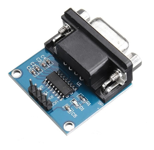 Módulo Conversor Rs232 Ttl Max3232 Serial Db9 Femea - Full