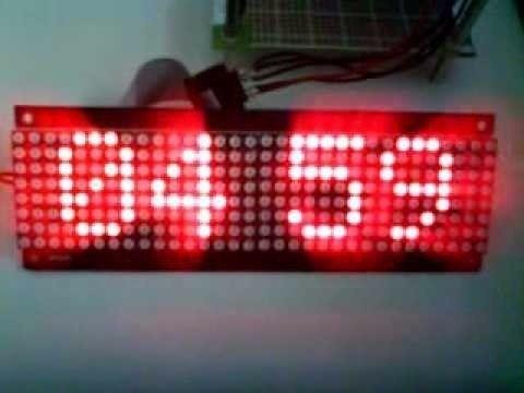 Módulo Display Matriz De Led 8x32 Letreiro Max7219 - Full