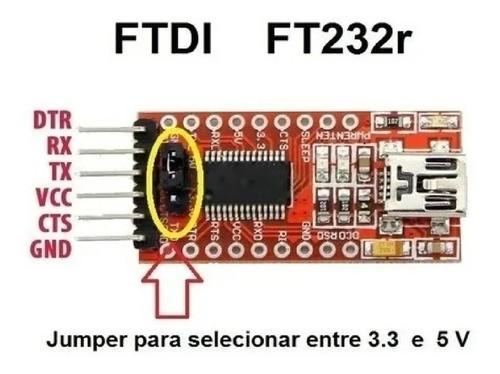 Módulo Ftdi P/ Kit Apm Conversor Usb Para Ttl E Rs232 Serial