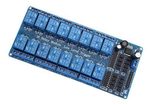 Módulo Relé De 16 Canais Arduino Pic 12 Volts