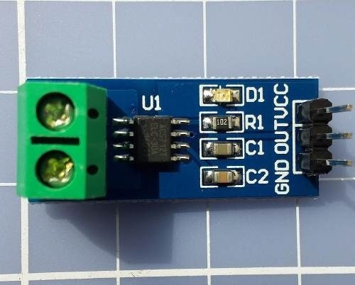Módulo Sensor De Corrente Acs712 30a - Arduino / Pic