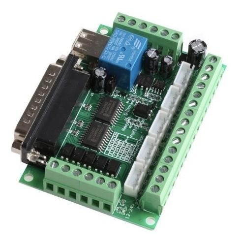 Placa Cnc 5 Eixos Breakout Board Acoplador Óptico Mach3