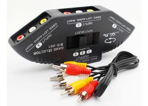 Rca Switch Chave Seletora Av 3 Em 1 Adaptador Divididor Audi