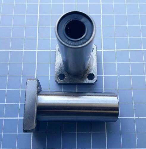 Rolamento Linear Com Flange Lmk10luu 10mm - Cnc / 3d