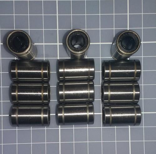 Rolamento Linear Lm8uu - Kit Com 12 Peças - Reprap Prusa Cnc