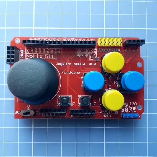 Shield Joystick Ps2 Uno Mega Gamepads Robo Controle