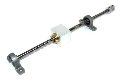 Sistema Completo De Mancal Fuso Trapezoidal 800mm - Tr8-8m