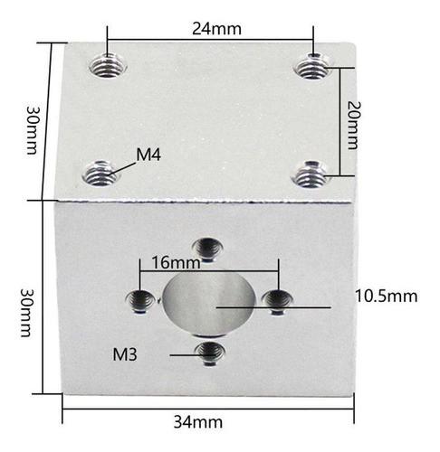Sistema Completo Tr8 Fuso Trapezoidal 400mm Com Suporte