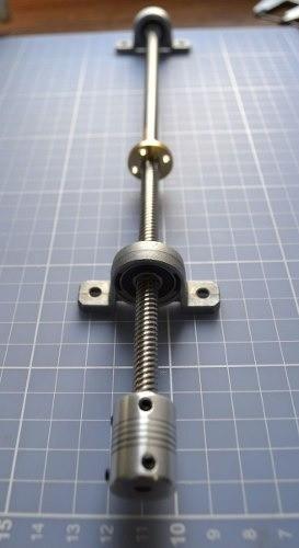 Sistema Fuso Trapezoidal E Mancal 1040mm - Tr8-8mm