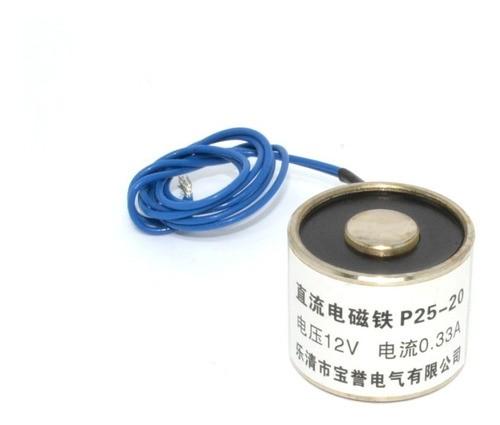 Solenoide Imã Eletromagnético 12vdc 5kg De Força
