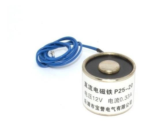 Solenóide Imã Eletromagnético 12vdc 5kg De Força - Full