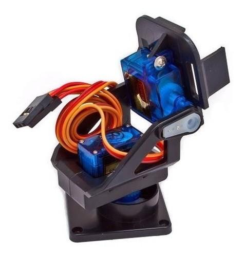 Suporte Pan Tilt P/ Câmera Fpv + Motores Micro Servo Arduino