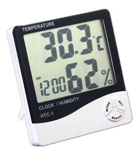 Termo Higrômetro Digital Termômetro Higrômetro Relógio Htc1