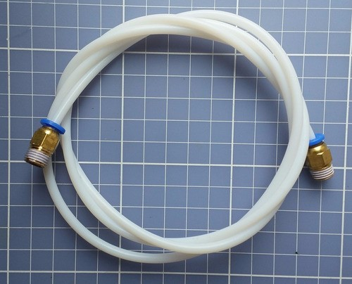 Tubo Ptfe Filamento 1.7mm - 1mt X 4 Od 2 Id + 2 Conector