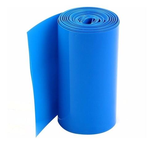 Tubo Termo Retrátil Azul 105mm Para Powerbank 18650 1s 2s
