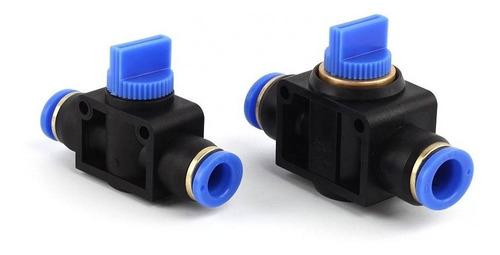 Válvula Pneumática Bloqueio De Fluxo Tubo 8mm Hvff-8