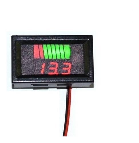 Voltímetro Digital Led 12v Dc Medidor Bateria Som Automotivo