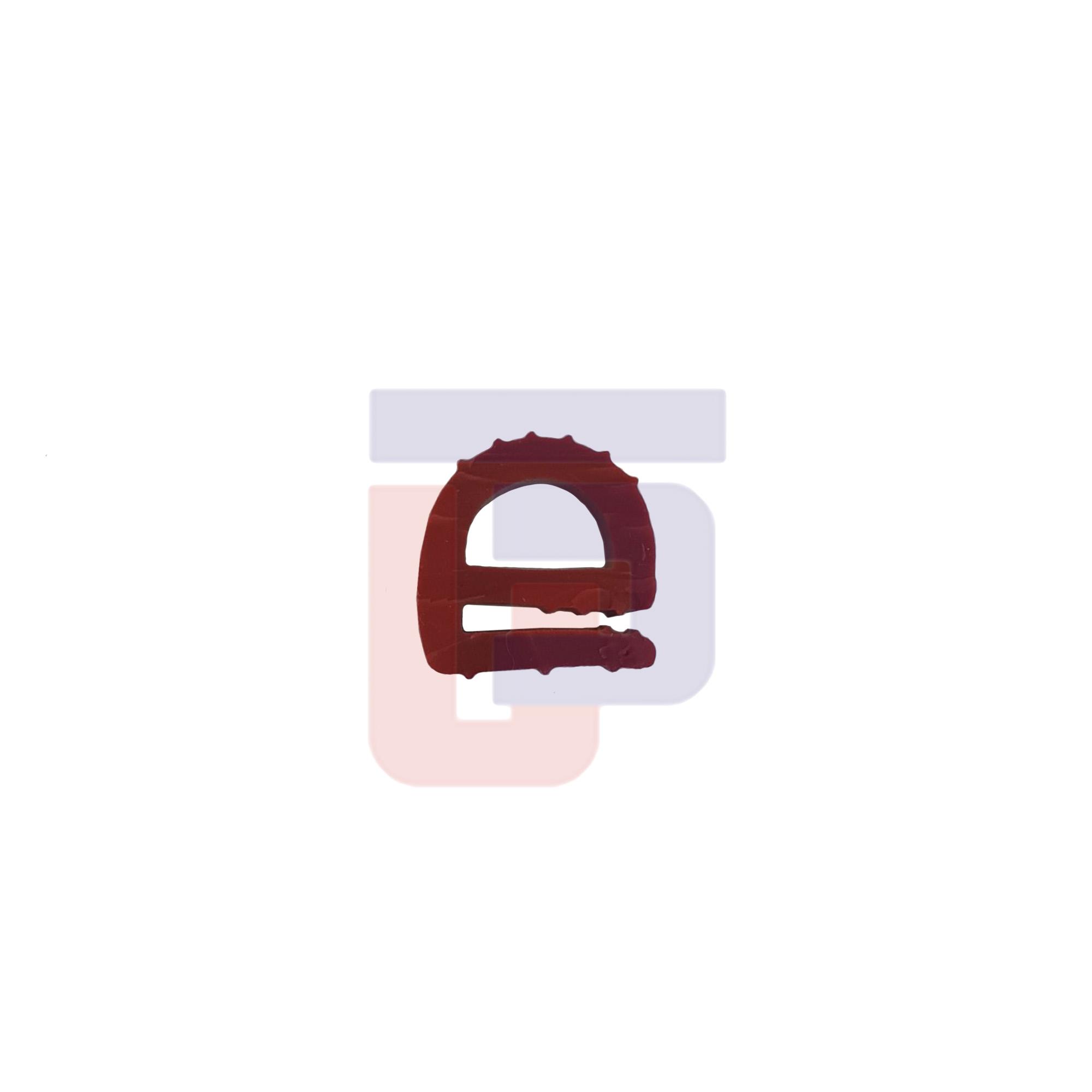 Perfil de Silicone para Forno Tipo e - vermelho