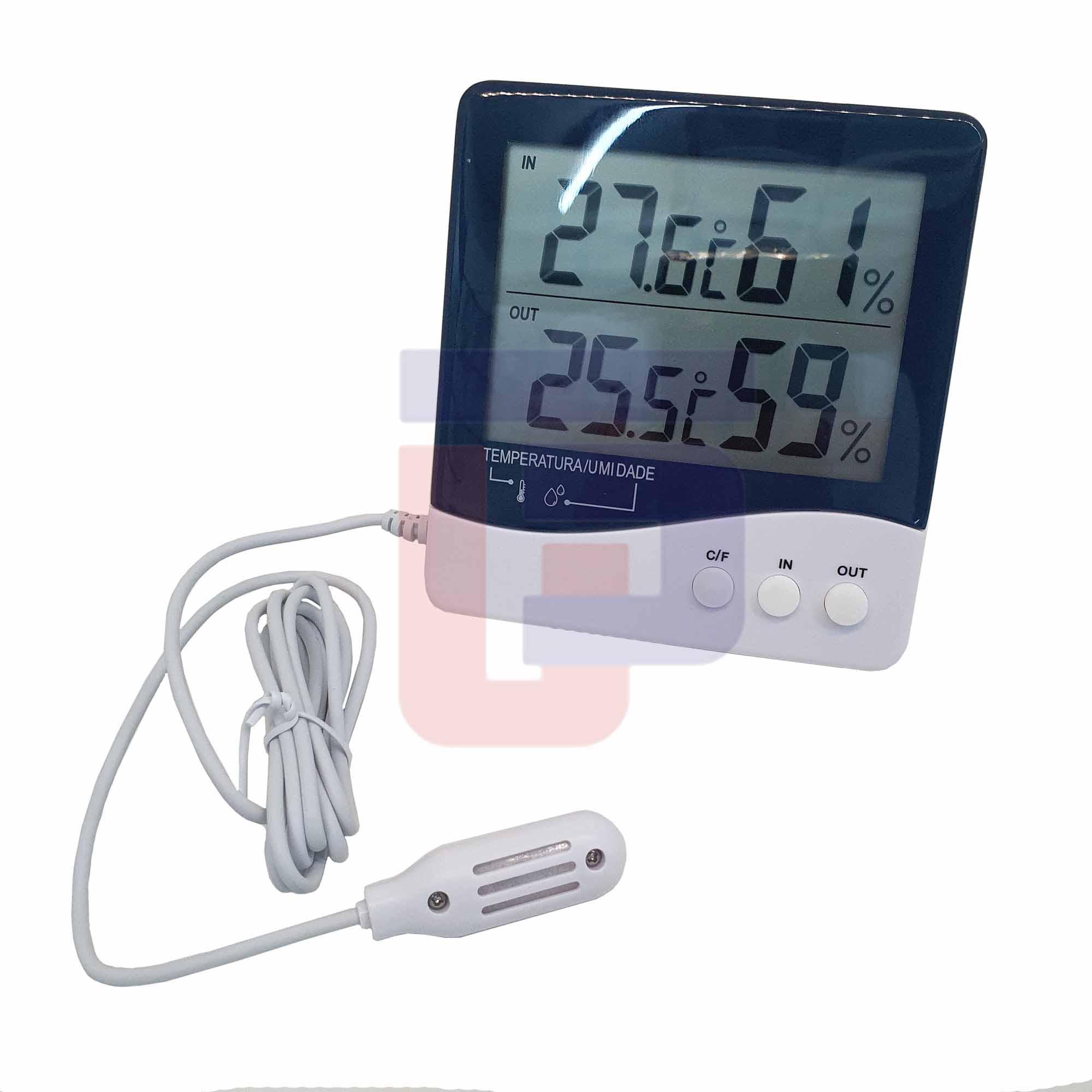 Termo-Higrômetro Digital Temperatura e Umidade Interna e Externa Incoterm