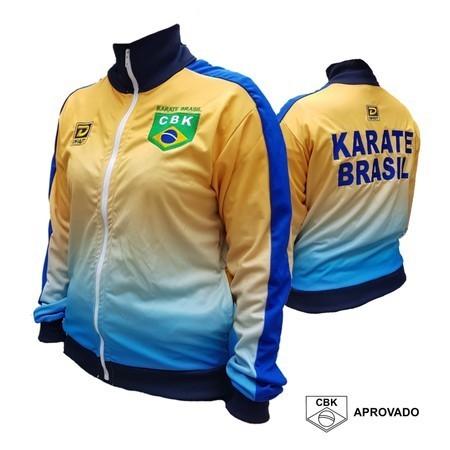 Casaco Oficial CBK Degrade - Seleção Brasileira Karate 2021