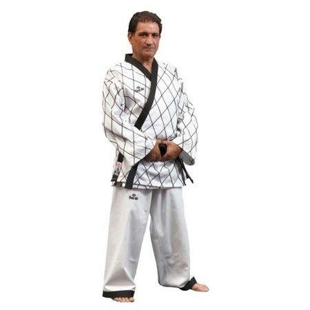 Dobok Daedo Mestre Branco Trançado Taekwodo Hapkido