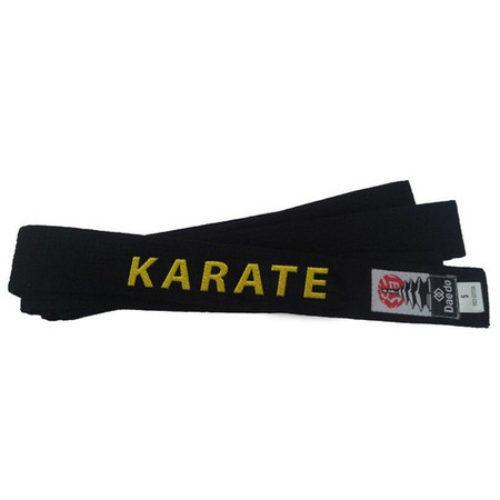 Faixa Preta Karate 5cm Largura Daedo Master - Bordada