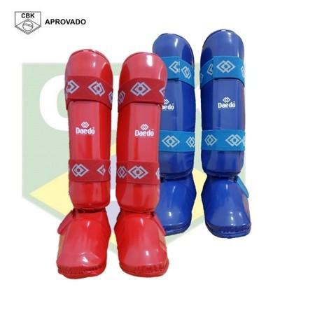 Novo Kit 2 Caneleiras com Bota de Karate Daedo FIT - Selo CBK