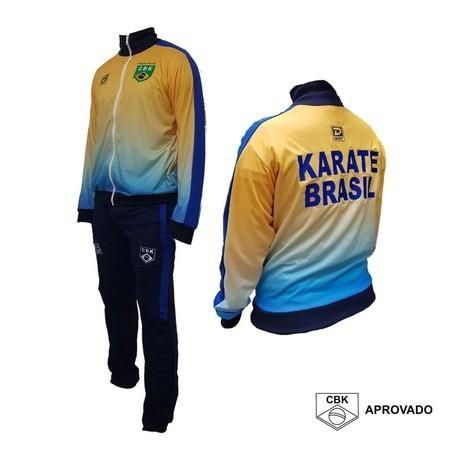 Uniforme Completo Oficial CBK Degrade - Seleção Brasileira Karate 2021
