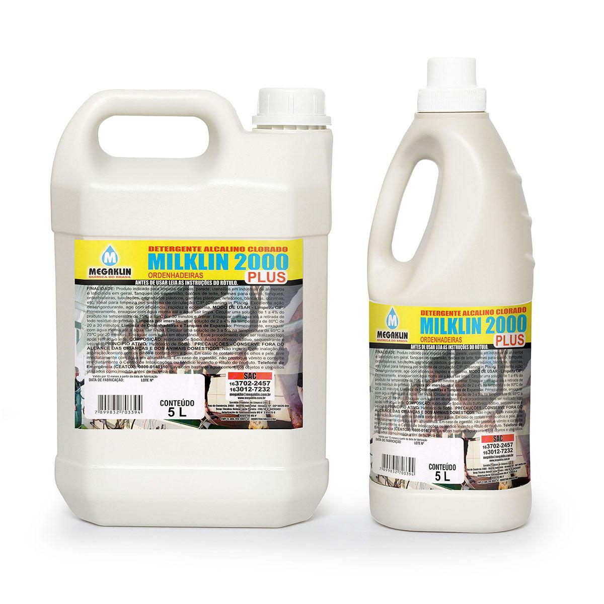 Detergente Alcalino Clorado Ordenhadeiras Milklin 2000 Plus Megaklin