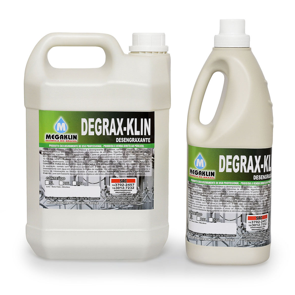 Desengraxante Degrax-Klin Megaklin