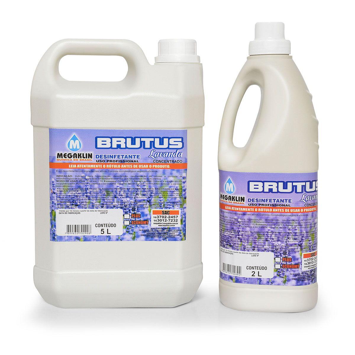 Desinfetante Concentrado para Uso Profissional Brutus Lavanda Megaklin