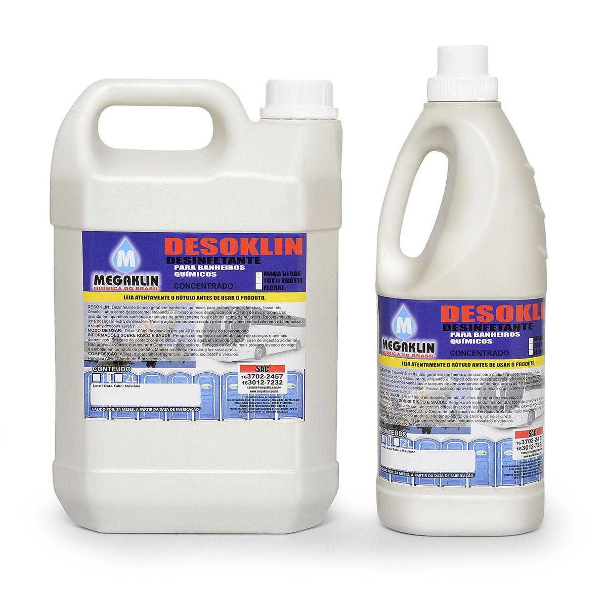Desinfetante para Banheiros Químicos Concentrado Desoklin Megaklin