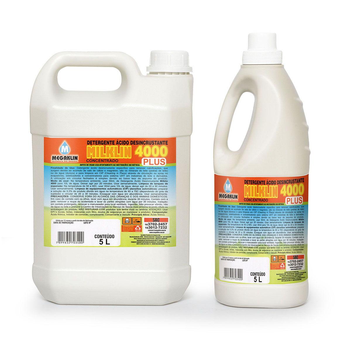 Detergente Ácido Desincrustante Concentrado Milklin 4000 Plus Megaklin