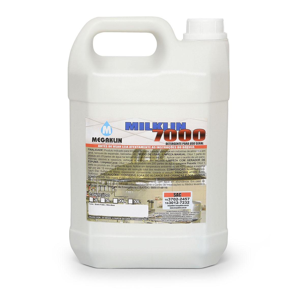 Detergente para Uso Geral Levemente Alcalino Milklin 7000 Megaklin