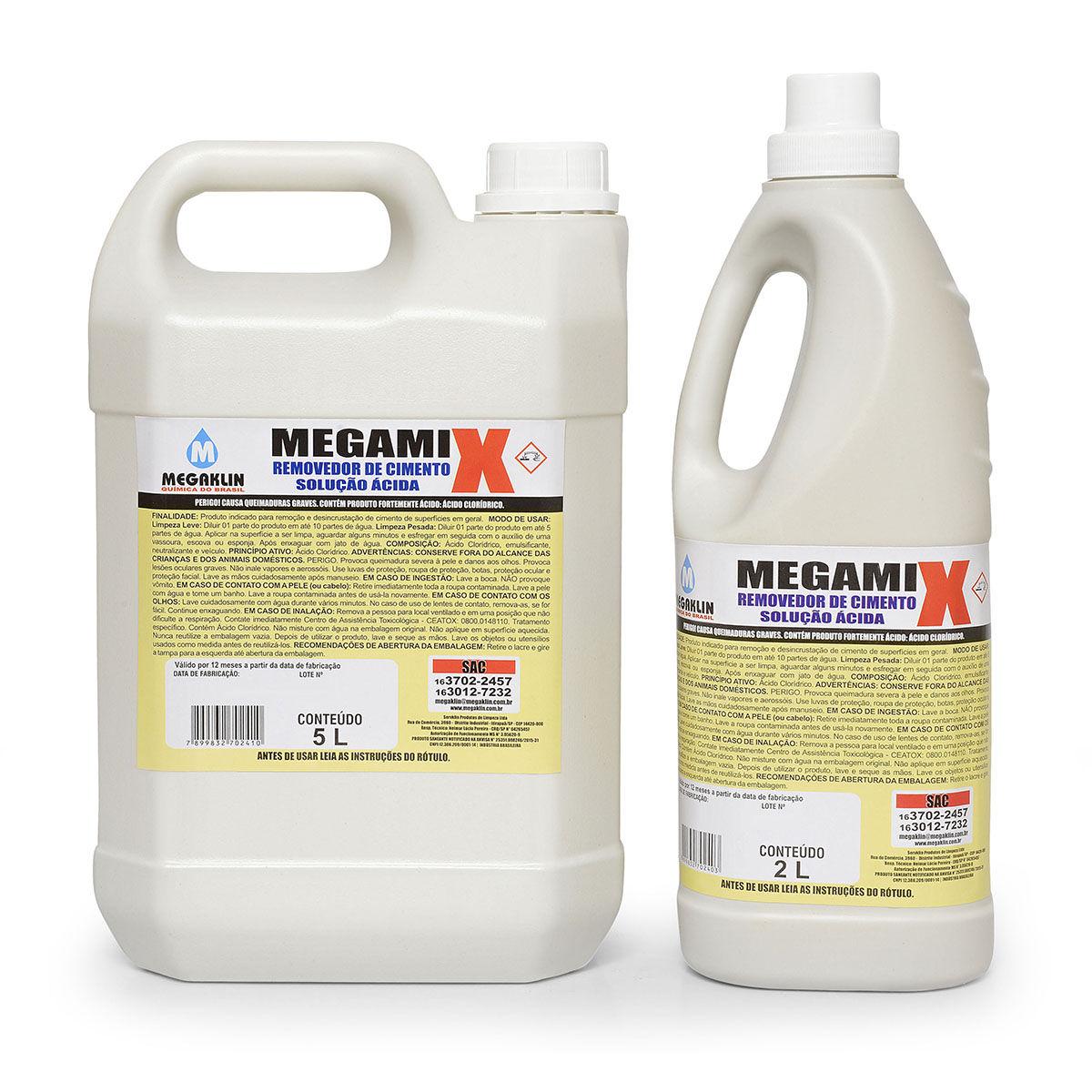 Removedor de Cimento Solução Ácida Megamix Megaklin