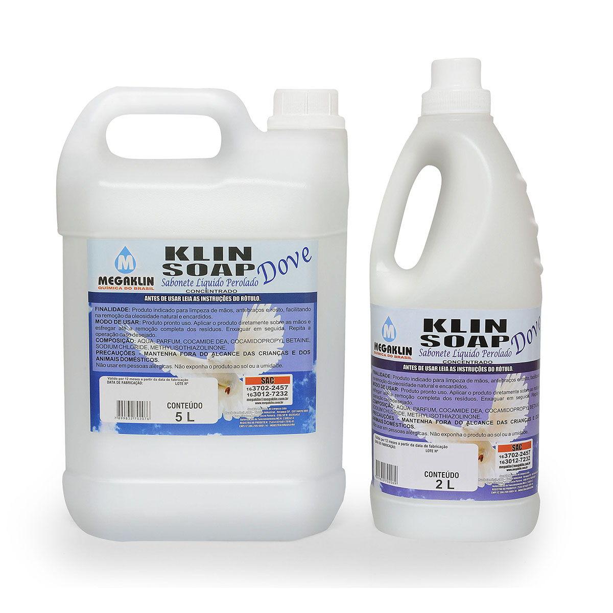 Sabonete Líquido Perolado Concentrado Klin Soap Dove Megaklin