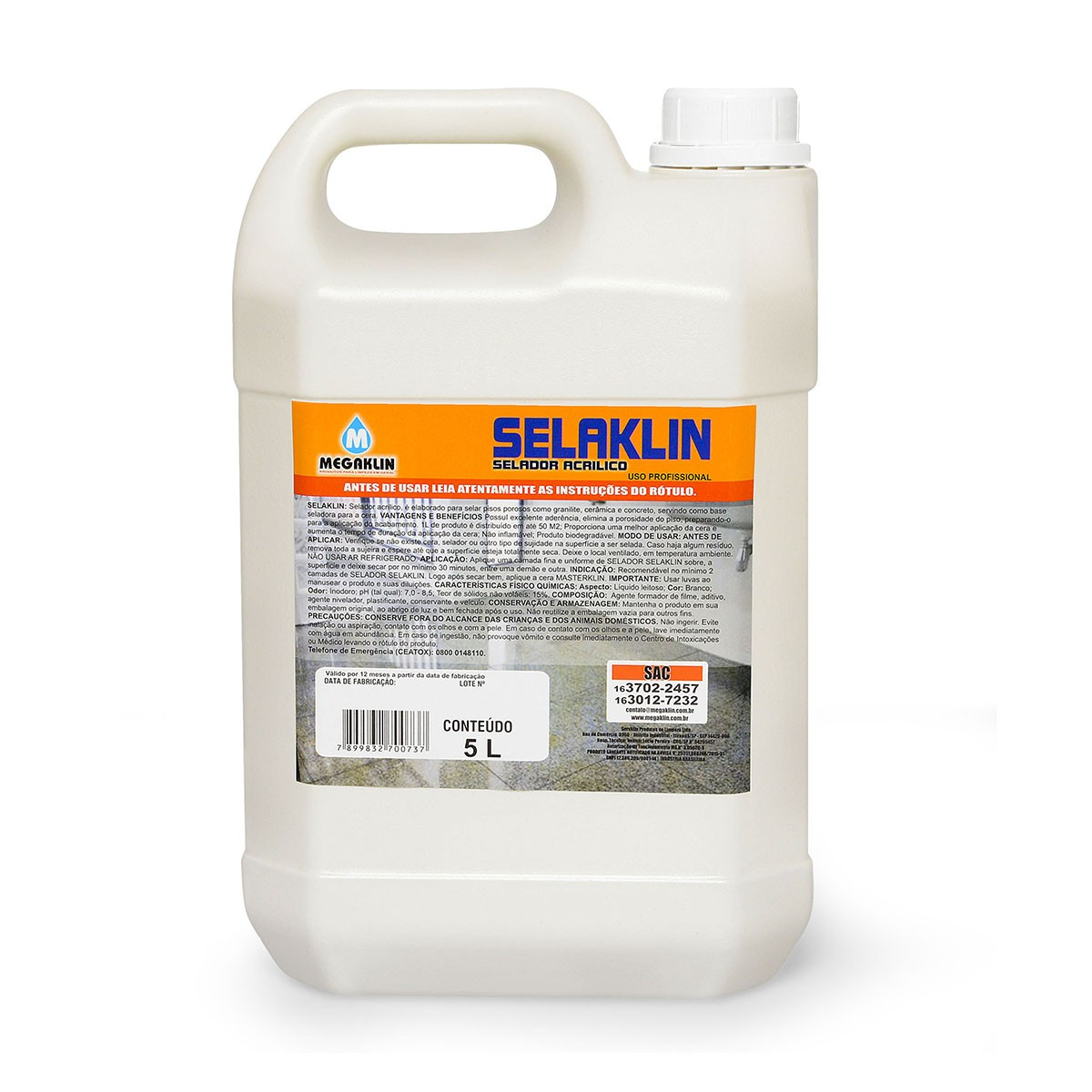 Selador Acrílico para Uso Profissional Selaklin Megaklin
