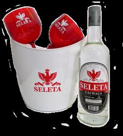 Kit Seleta Taças + Balde de Gelo Branco