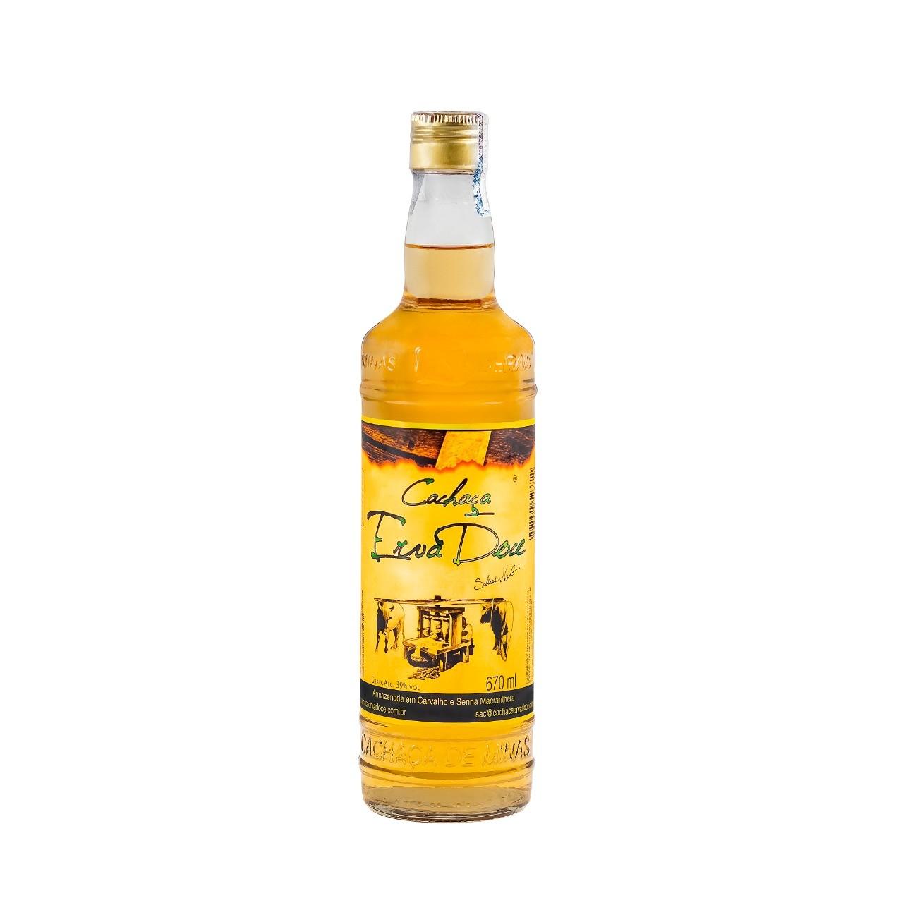 Cachaça Erva Doce 670 ml Amburana