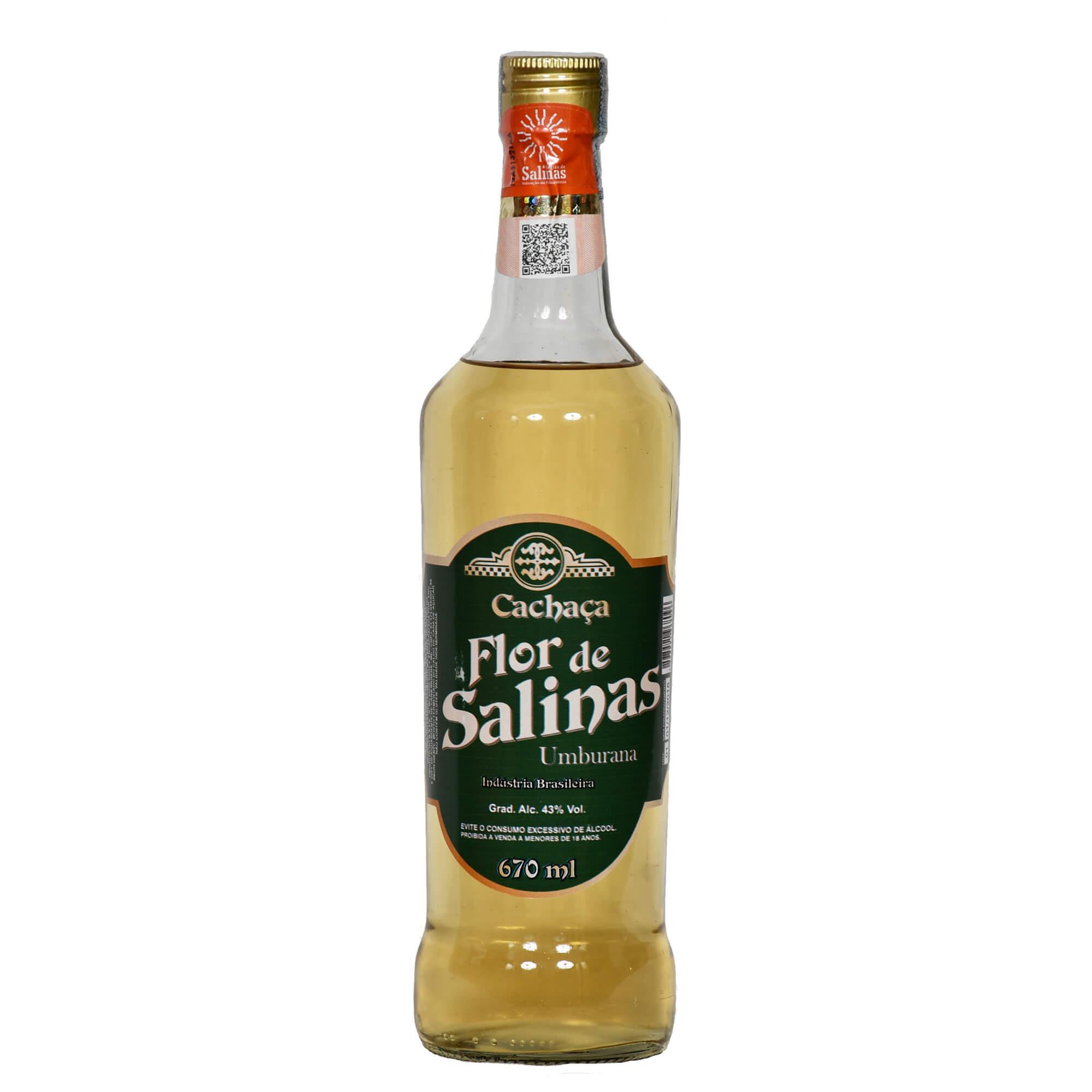 Cachaça Flor de Salinas 670 ml Amburana