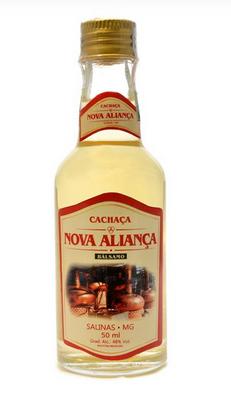 Cachaça Nova Aliança 50ml miniatura Balsamo