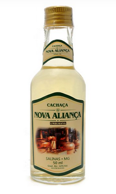 Cachaça Nova Aliança 50ml miniatura Umburana
